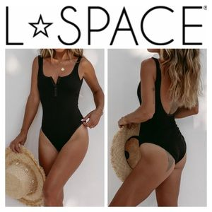 NWOT L*Space Ribbed Float On One-Piece Swimsuit